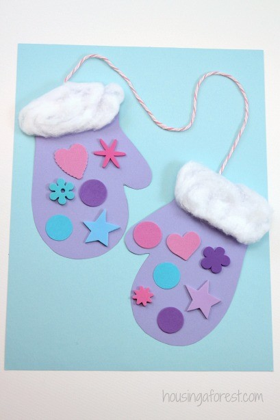 preschool-winter-mittens-craft-image | Early Childhood