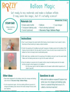 balloon magic activity