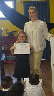 child receiving award